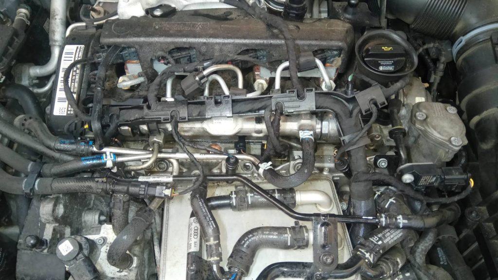 Vw passat 2.0 motor, eltört izzítógyertyával